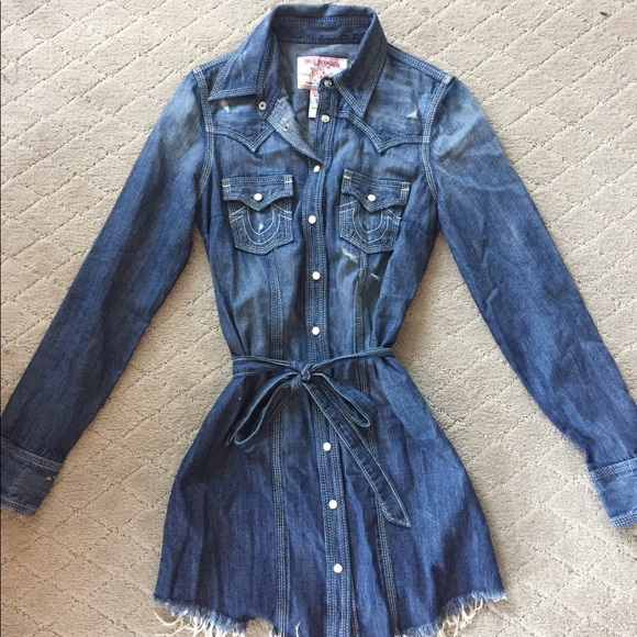 9952a4b7f08 True Religion Dresses | Short Jean Dress | Poshmark